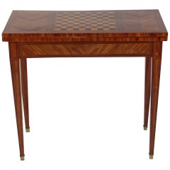 Foldable Game Table, France, Rosewood, circa 1850-1860