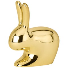 Ghidini 1961 Small Rabbit in Polished Brass by Stefano Giovannoni