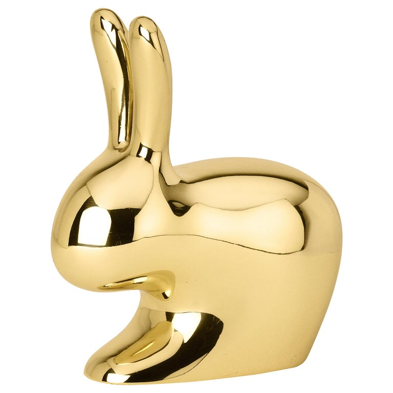 Ghidini 1961 Medium Rabbit in Polished Brass by Stefano Giovannoni For Sale
