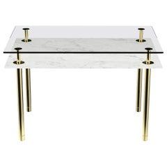 Ghidini 1961 Legs Rectangular Table in Carrara White by Paolo Rizzatto