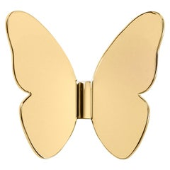 Ghidini 1961 Single Butterfly Coatrack in Gold by Richard Hutten