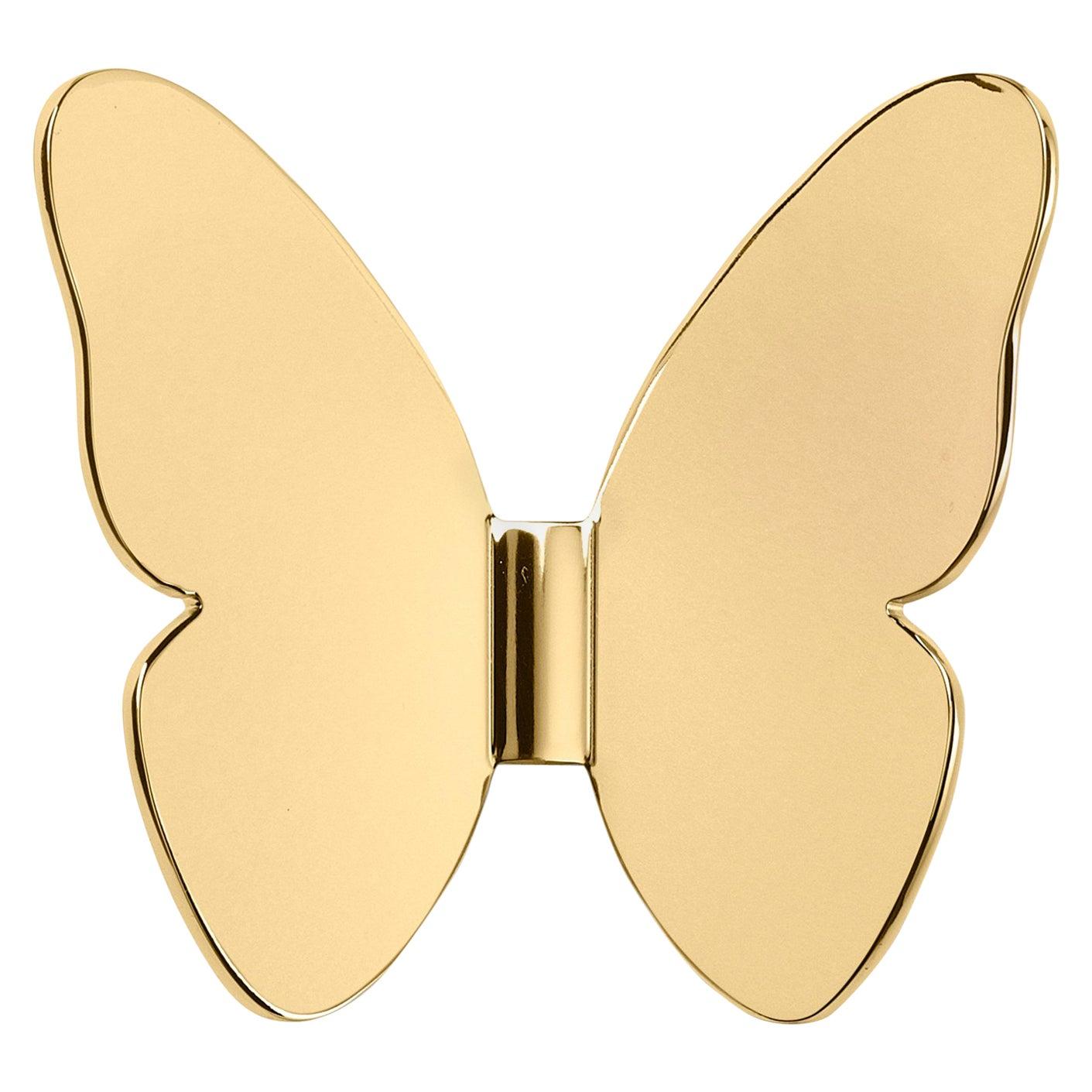 Ghidini 1961 Single Butterfly Coatrack in Gold by Richard Hutten