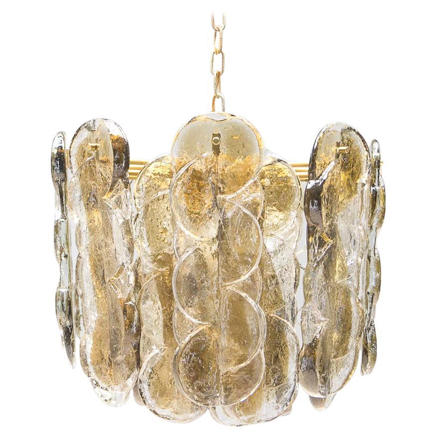 Swirl Glass Ceiling Lamp from Kalmar, Austria, 1960s