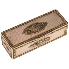 Antique German 18-Karat Four-Color Gold Snuff Box, Charles Collins, circa 1820