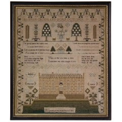 Antique Sampler, 1800, by Hannah Crossland