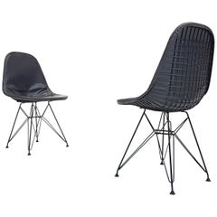Pair of Early Charles and Ray Eames DKR Chairs
