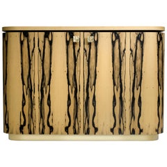 Riccardo Sideboard in White Ebony, Macassar Ebony and Brass