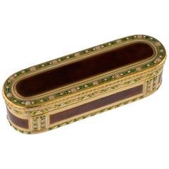 French 18-Karat Gold & Enamel Snuff Box, Joseph-Etienne Blerzy, circa 1770