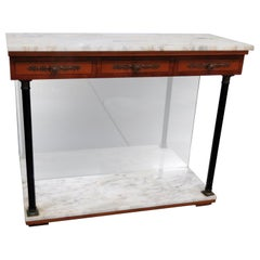 Bethlehem Furniture Marble Top Pier Table