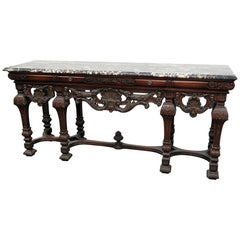 Leonardo Co Carved Marble Top Sideboard