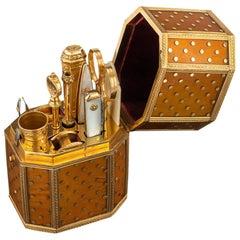 Antique French 18-Karat Gold Mounted Large Travelling Etui Set, circa 1760