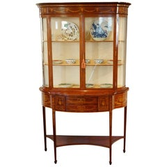 Edwardian Sheraton Revival Display Cabinet