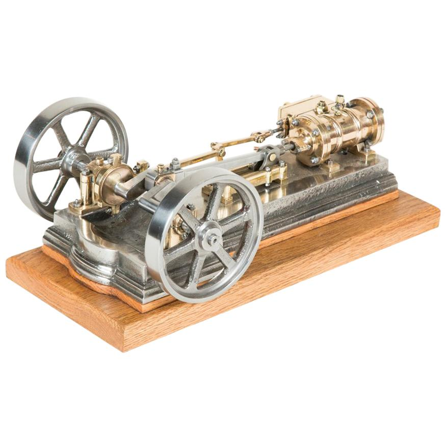 Scale Model of a Single Cylinder Horizontal Mill Steam Engine