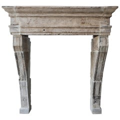 Old Robust Antique Mantelpiece, 19th Century, Campagnarde Style, Very Exclusive