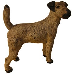 Cast Iron Jack Russell Terrier Dog Door Stop