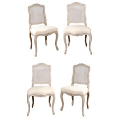 Set of Four Vintage French Side Chairs