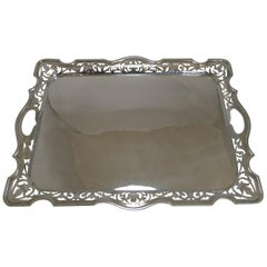 Large English Serving Tray by Martin Hall & Co., circa 1900