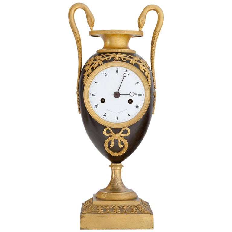 Empire Clock, Signed Griebel, France, First Quarter of the 19th Century For Sale