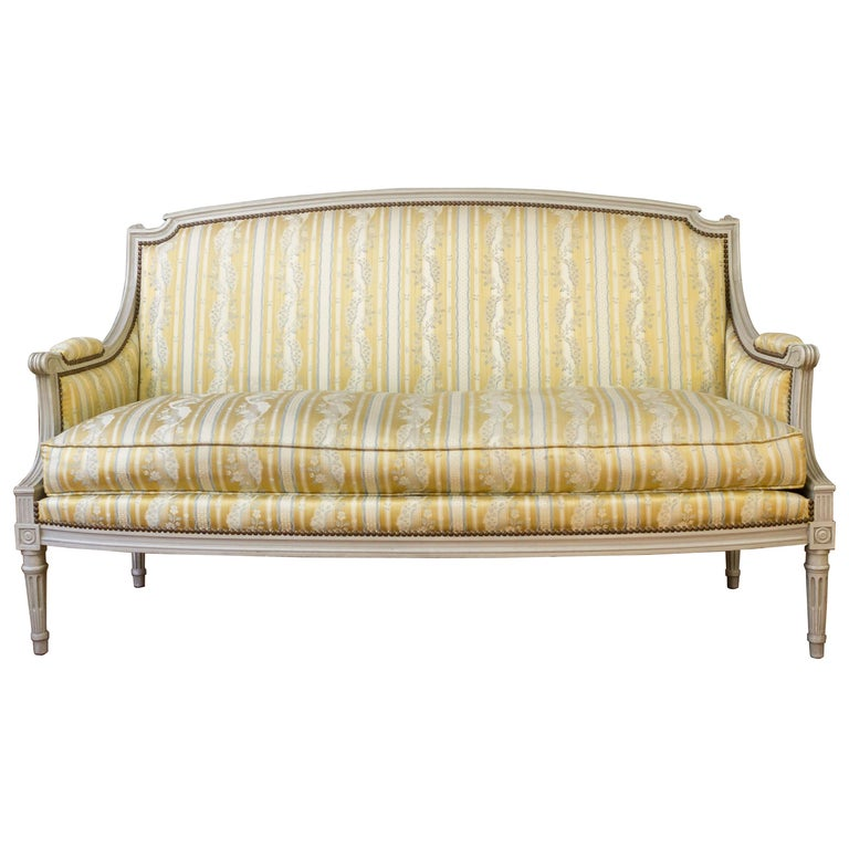 Louis Xvi Style Sofa With Painted