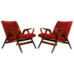 Midcentury Armchairs from Tatra, 1960s, Set of Two