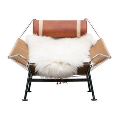 1950s Flag Halyard Lounge Chair by Hans Wegner