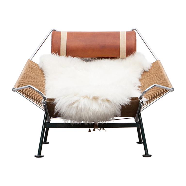 Hans Wegner Flag Halyard lounge chair, 1950s, offered by Frank Landau