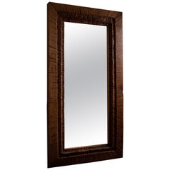 Contemporary Brutalist Style Full Length Mirror in Solid Oak