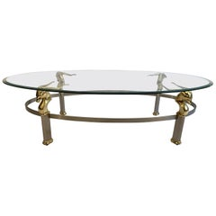Antelope Coffee Table with Glass Top