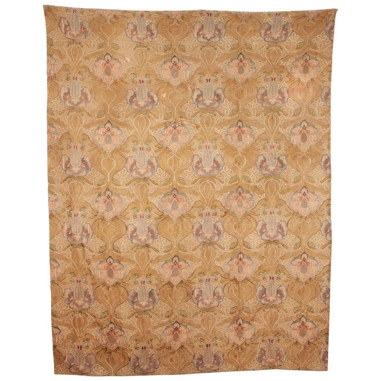 Art Nouveau European Textile, 1900s For Sale