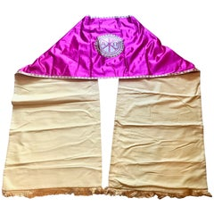 Fuchsia Pink Silk Embroidered Priest Vestment Cape