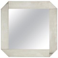 Minimalist 1970s Stainless Steel Mirror