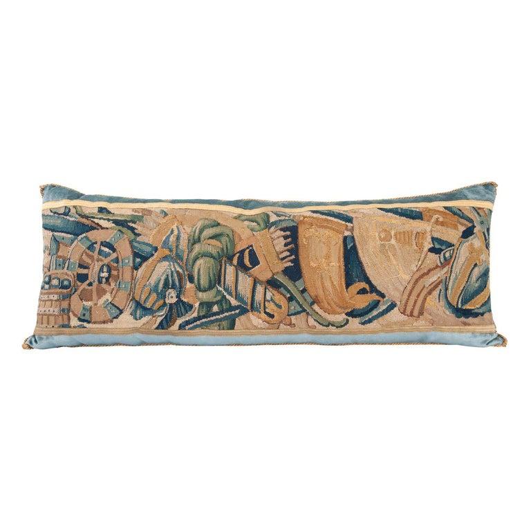 B.Viz Design Antique Tapestry Pillow For Sale