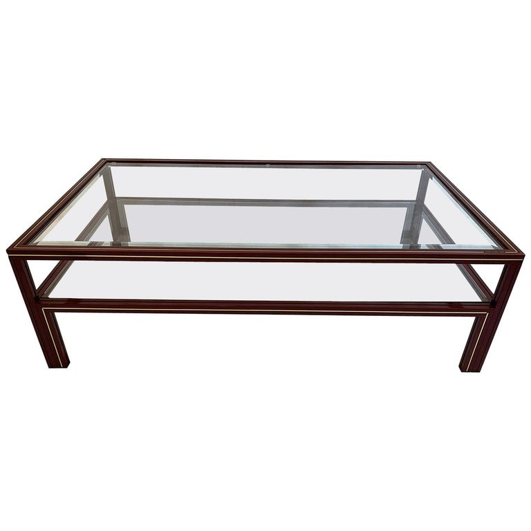 Two-Tier Coffee Table by Pierre Vandel For Sale
