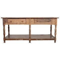 Französischer 19. Jahrhundert Bemalter Draperie Tisch