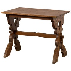 Antique Austrian German Painted Dowry Table, circa 1875