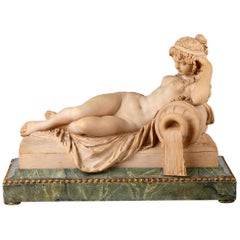 Terracotta Figure of a Reclining Nymph, by Claude Michel Clodion
