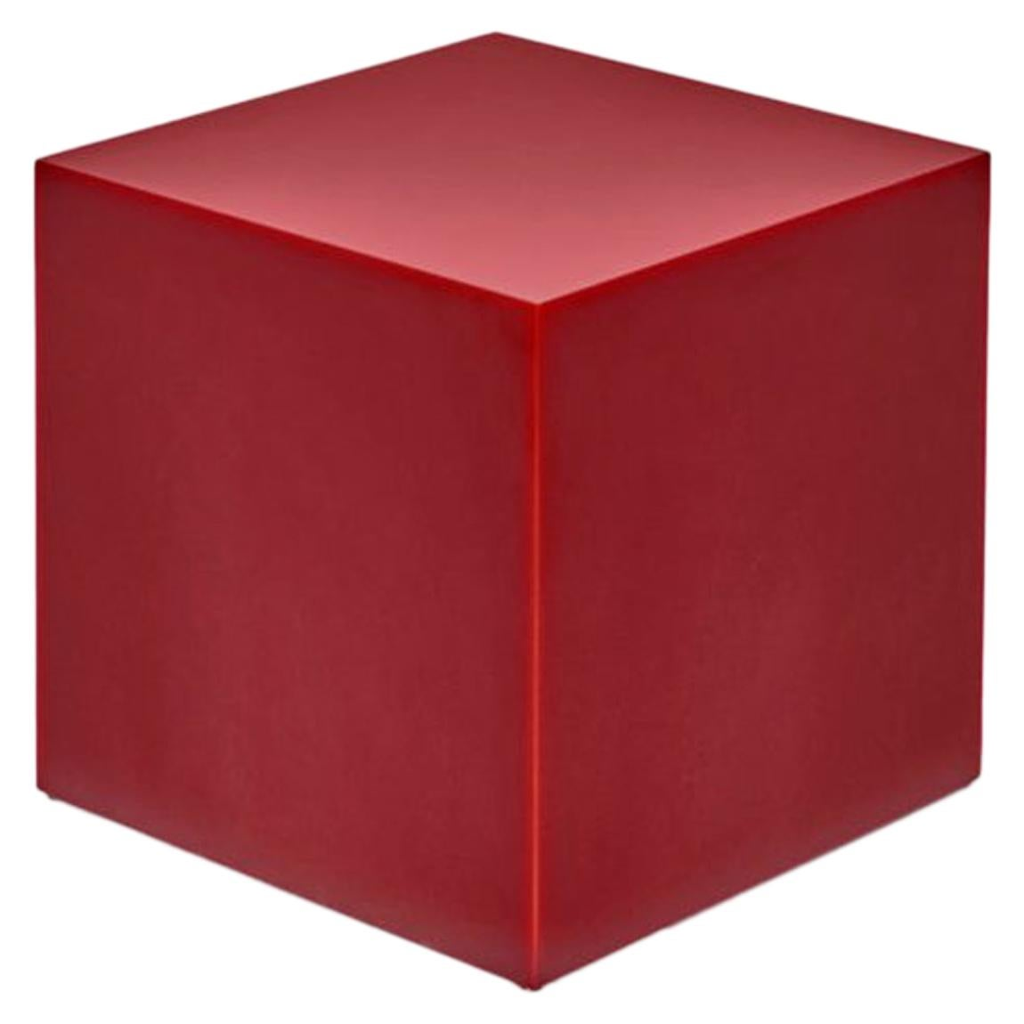 Sabine Marcelis Tomato Red Candy Cube Contemporary High Gloss Resin Side Table