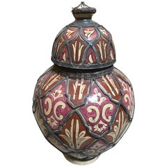 Red Moroccan Pot