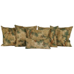 Flemish 18th Century Verdure Tapestry Pillows