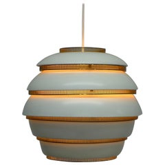 Alvar Aalto, First Production Stamped Valaistustyo A331, Beehive Lamp, 1950s