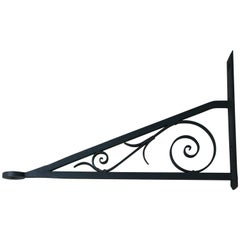Antique Wrought Iron Shop Sign Bracket, Late 19th Century