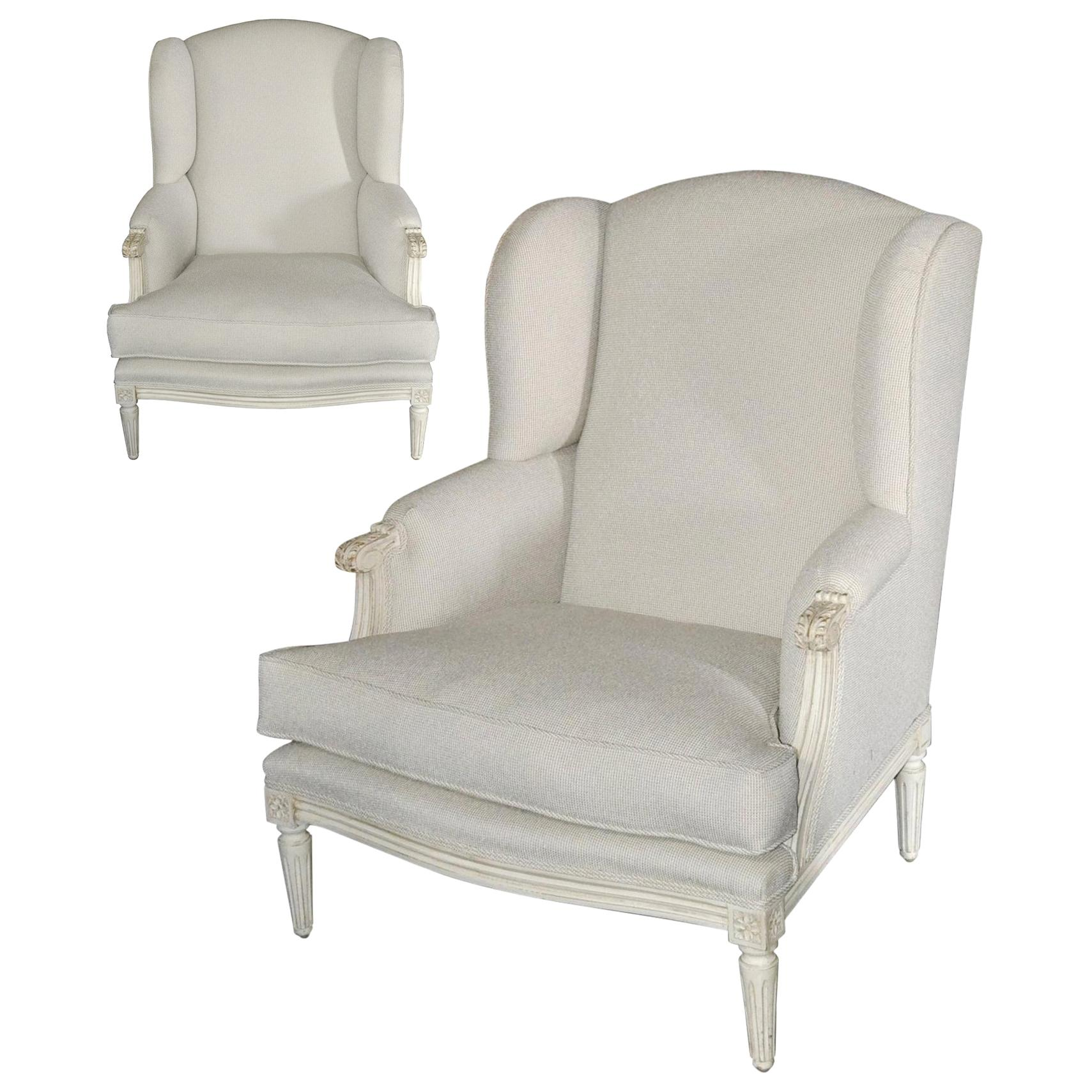 Pair of Large Scale French Bergeres