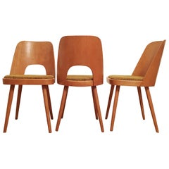 Set of 3 Dining Chairs by Oswald Haerdtl for TON