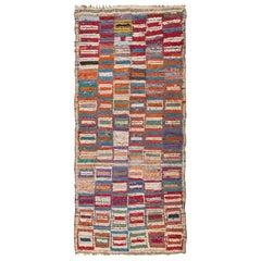 Vintage Midcentury Moroccan Rag Rug