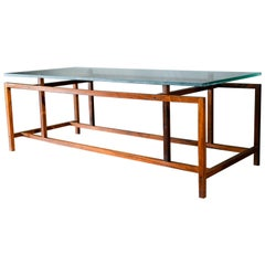 Rosewood and Glass Coffee Table by Henning Norgaard, circa 1965