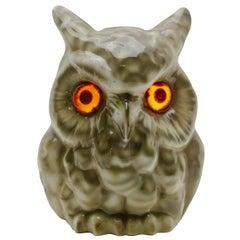 Porcelain Figurine Owl, Table Lamp, 'Carl Scheidig Gräfenthal', Germany, 1930s