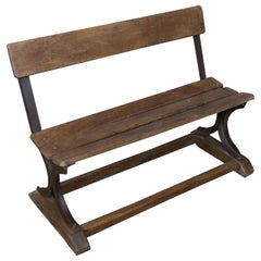 Anglo-Indian Iron and Wood Bench