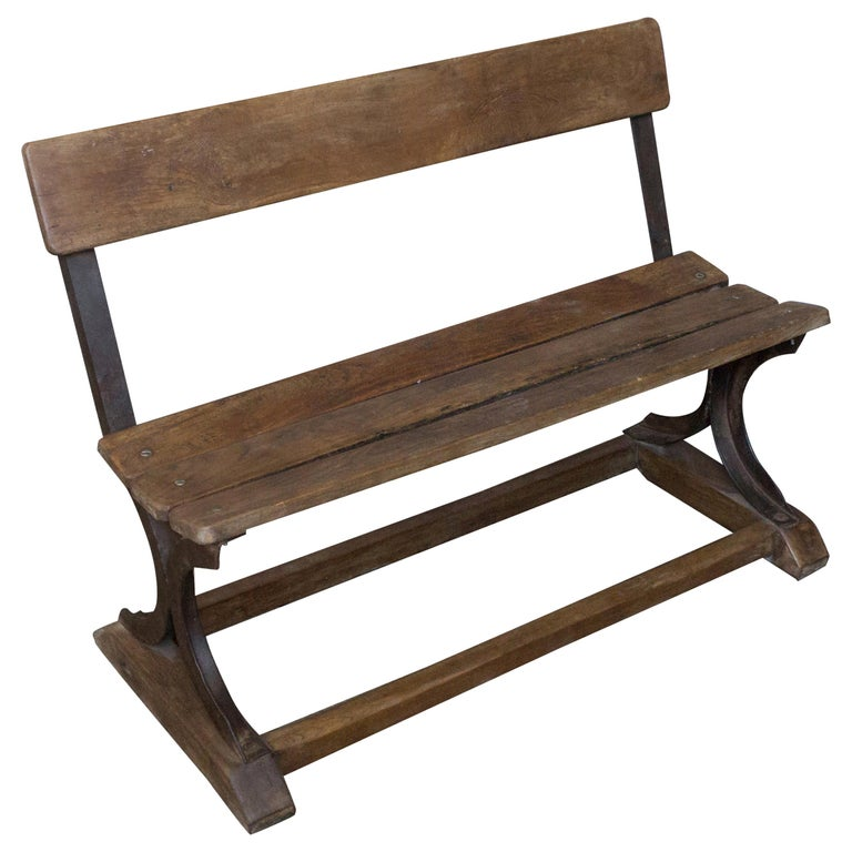 Anglo-Indian Iron and Wood Bench For Sale