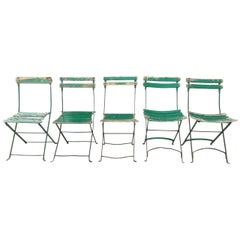 French Outdoor Folding Garden Chairs