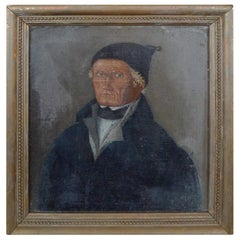 French 19th Century Portrait Painting of a Professional Gentleman